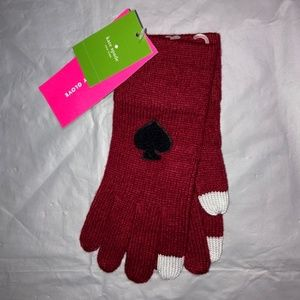 Kate Spade Spade Tech Gloves. Dark Red.NWT!